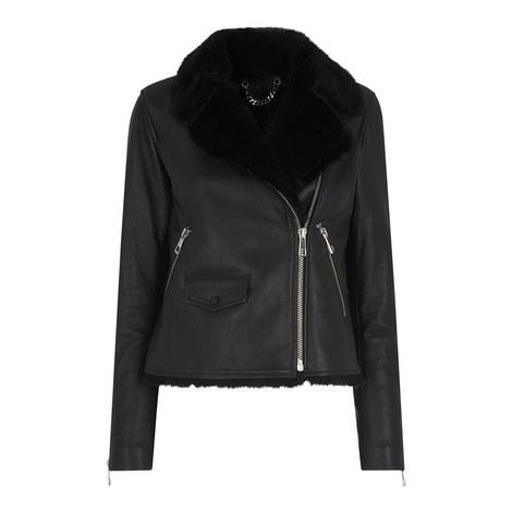 Agnes Faux Fur Biker Jacket, ${color}