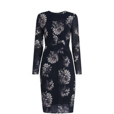 Brush Stroke Silk Bodycon Dress