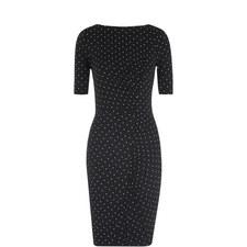 Pin Dot Jersey Bodycon Dress