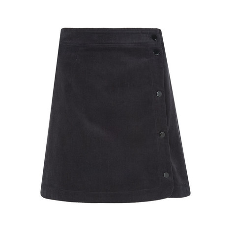 Corduroy Popper Mini Skirt, ${color}