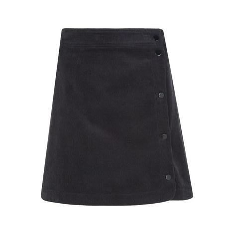 Corduroy Popper Mini Skirt, ${color}
