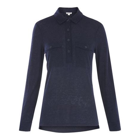 Jersey Button-Down Shirt, ${color}