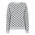 Flocked Polka Dot Sweatshirt, ${color}