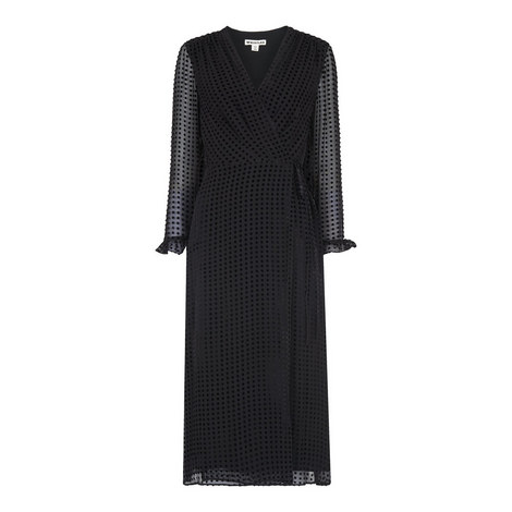 Venus Velvet Wrap Dress, ${color}