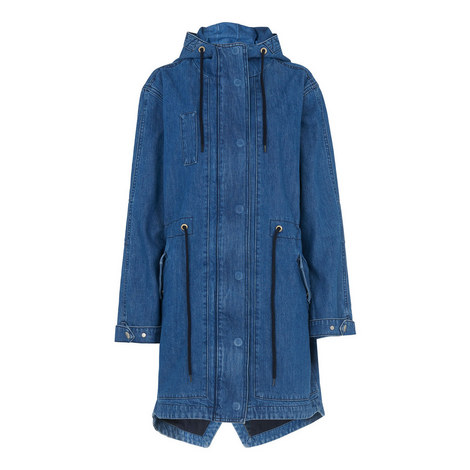 Milly Denim Parka Jacket, ${color}