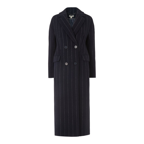 Stripe Double Breasted Coat, ${color}