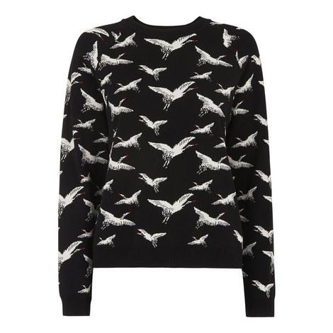 Crane Jacquard Sweater, ${color}