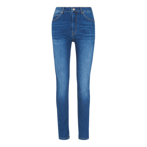 Mid-Wash Skinny Jeans, ${color}