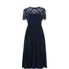 Bianca Lace Pleated Dress