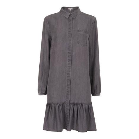 Dropped Hem Shirt Dress, ${color}
