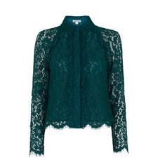 Suzie Lace Cropped Shirt