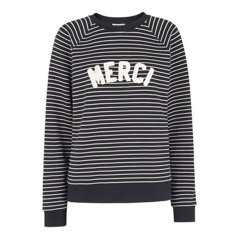 Breton Stripe Slogan Sweatshirt, ${color}