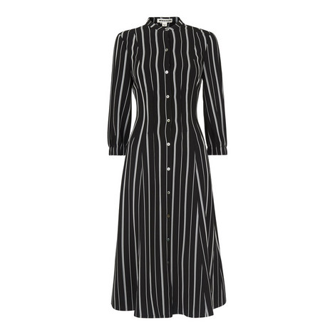 Leesa Stripe Shirt Dress, ${color}