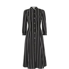 Leesa Stripe Shirt Dress