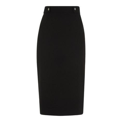 Crepe Pencil Skirt, ${color}