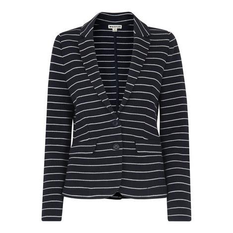 Stripe Jersey Jacket, ${color}
