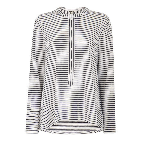 Stripe Cotton Jersey Shirt, ${color}