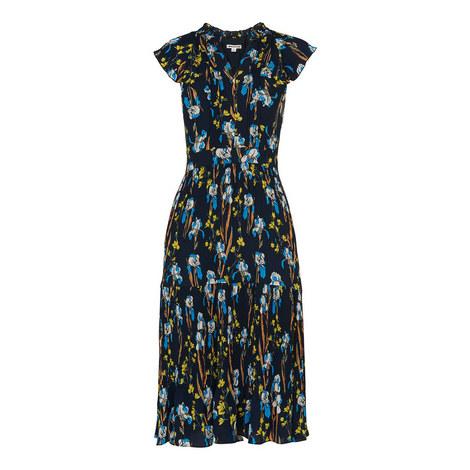 Celia Iris Pleated Dress, ${color}
