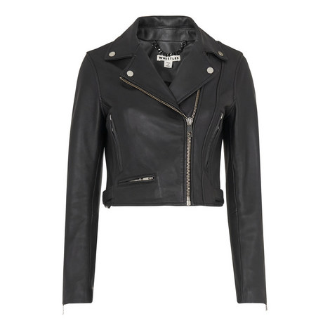 Rose Cropped Leather Jacket, ${color}