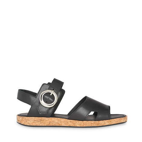 Maddox Buckle Cork Sandals, ${color}