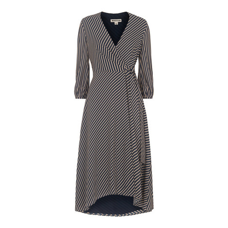 Stripe Callie Wrap Dress, ${color}