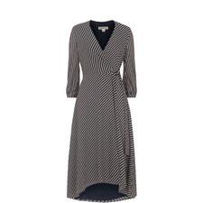 Stripe Callie Wrap Dress