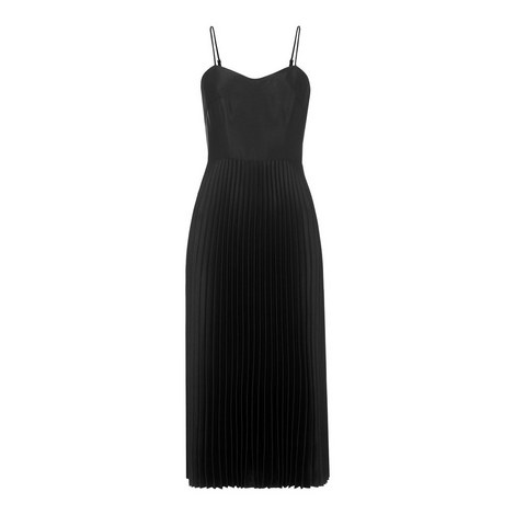 Satin Sweetheart Neckline Dress, ${color}