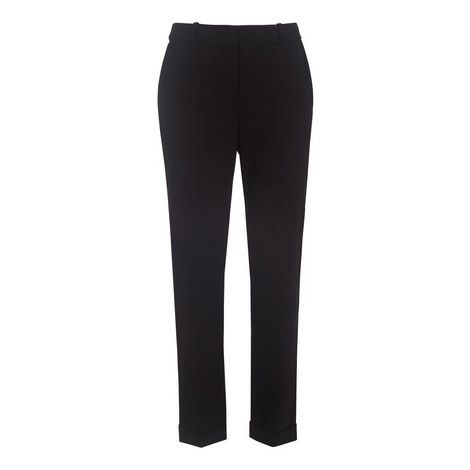 Sadie Cuffed Slim Trousers, ${color}