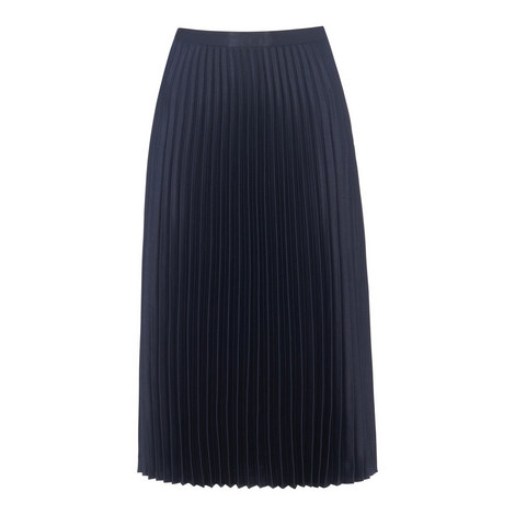Satin Pleated Skirt, ${color}