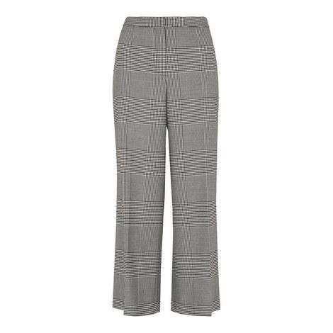 Check Crop Wide Leg Trouser, ${color}