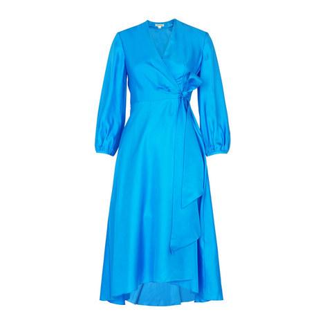 Callie Silk Wrap Dress, ${color}