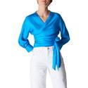 Serena Silk Wrap Top, ${color}
