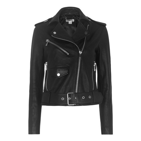 Belted Agnes Biker Jacket, ${color}