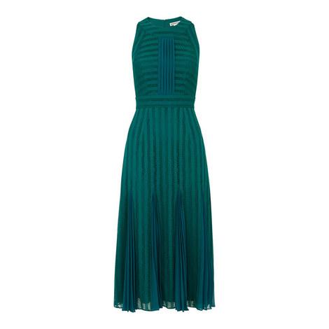 Nora Lace Pleat Mix Dress, ${color}