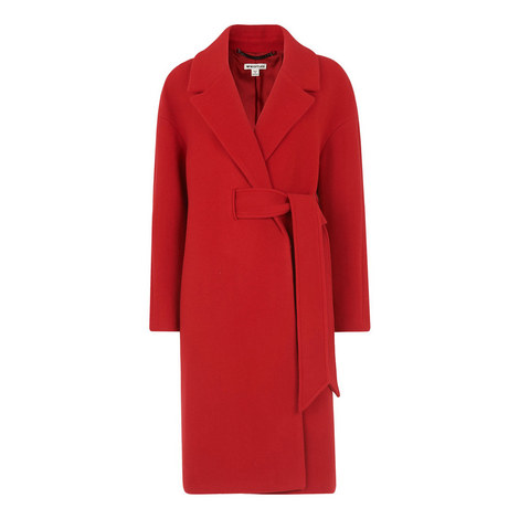 Magdelina Belted Wrap Coat, ${color}