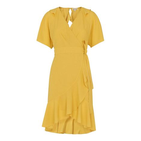 Abigail Frill Wrap Dress, ${color}