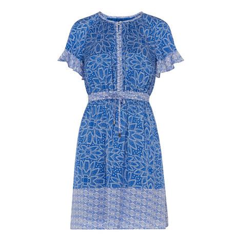 Riya Print Drawstring Dress, ${color}