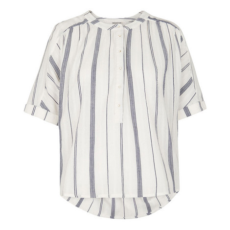 Paula Multi Stripe Blouse, ${color}