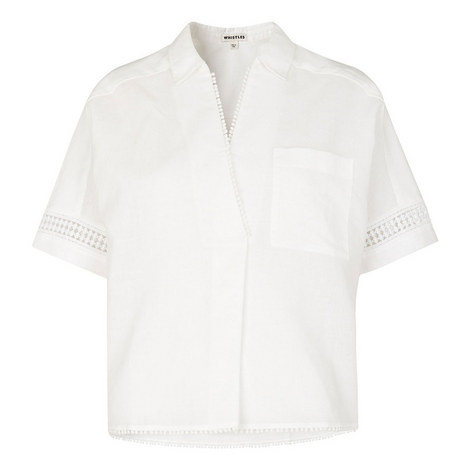 Kirstyn Lace Insert Shirt, ${color}