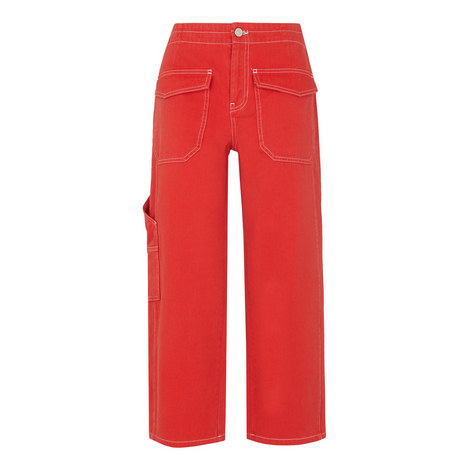 Carpenter Cropped Trousers, ${color}