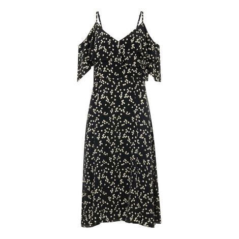 Daisy Print Frill Dress, ${color}