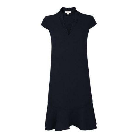 Federica Frill V-Neck Dress, ${color}