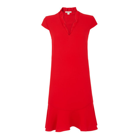 Federica Frill V-Neck Dress, ${color}