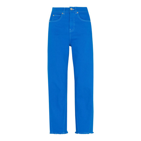 High Waist Barrel Leg Jean, ${color}