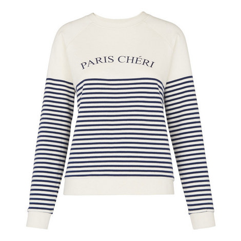 Breton Stripe Paris Chéri Sweatshirt, ${color}