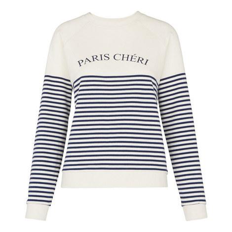 Breton Stripe Paris Chéri Sweatshirt, ${color}
