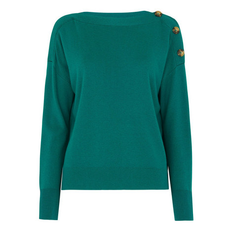 Side Button Relaxed Sweater, ${color}