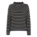 Fine Stripe Relaxed Sweater, ${color}