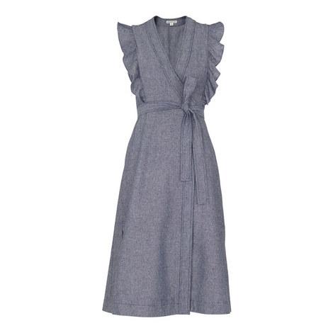 Misha Chambray Wrap Dress, ${color}
