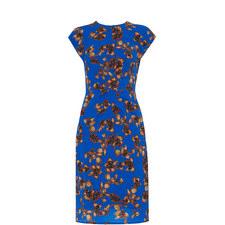 Capri Print Silk Bodycon Dress